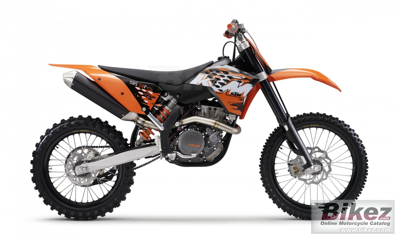 Big KTM 505 sx-f picture and wallpaper from Bikez.com