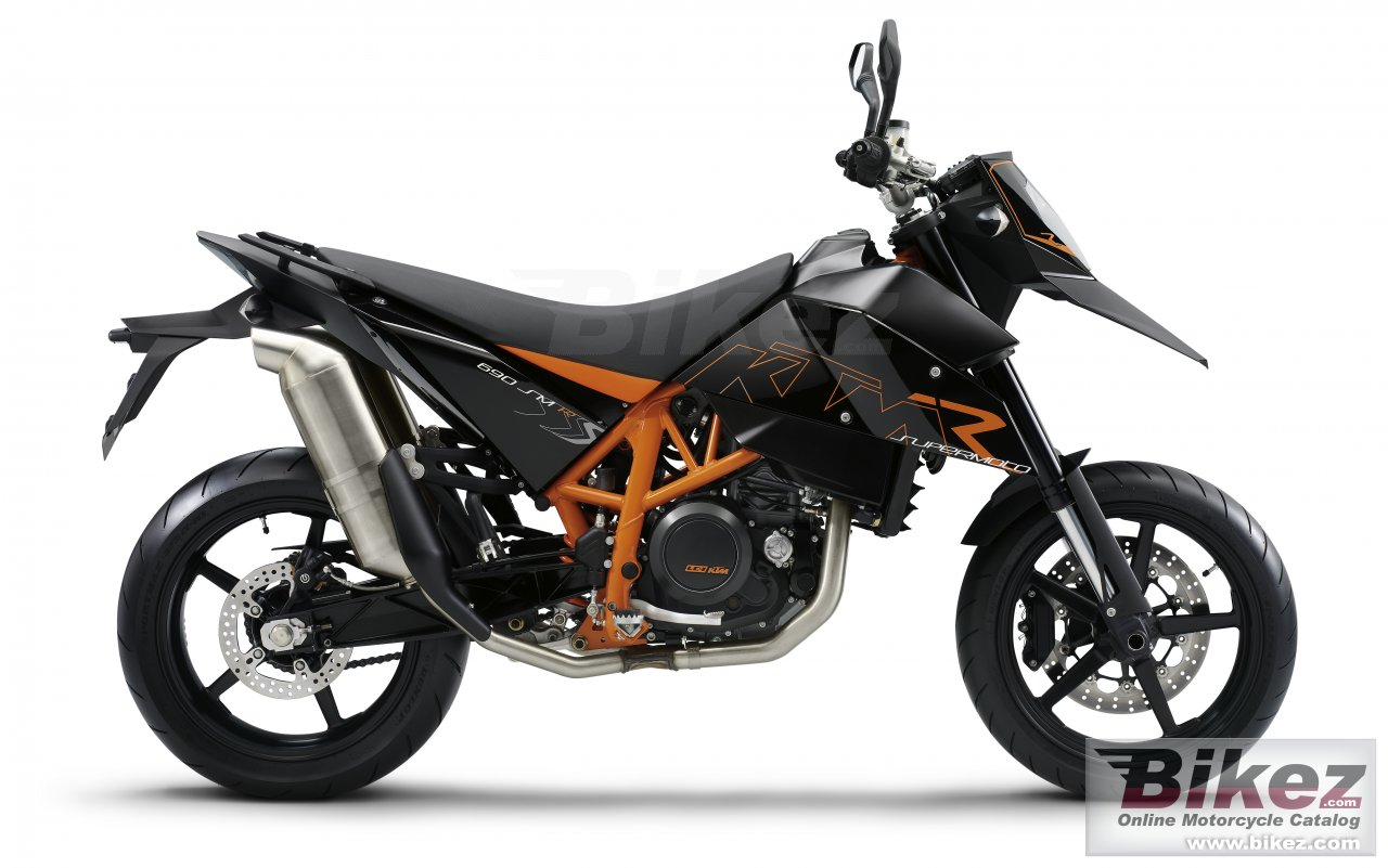 Big KTM 690 supermoto r picture and wallpaper from Bikez.com