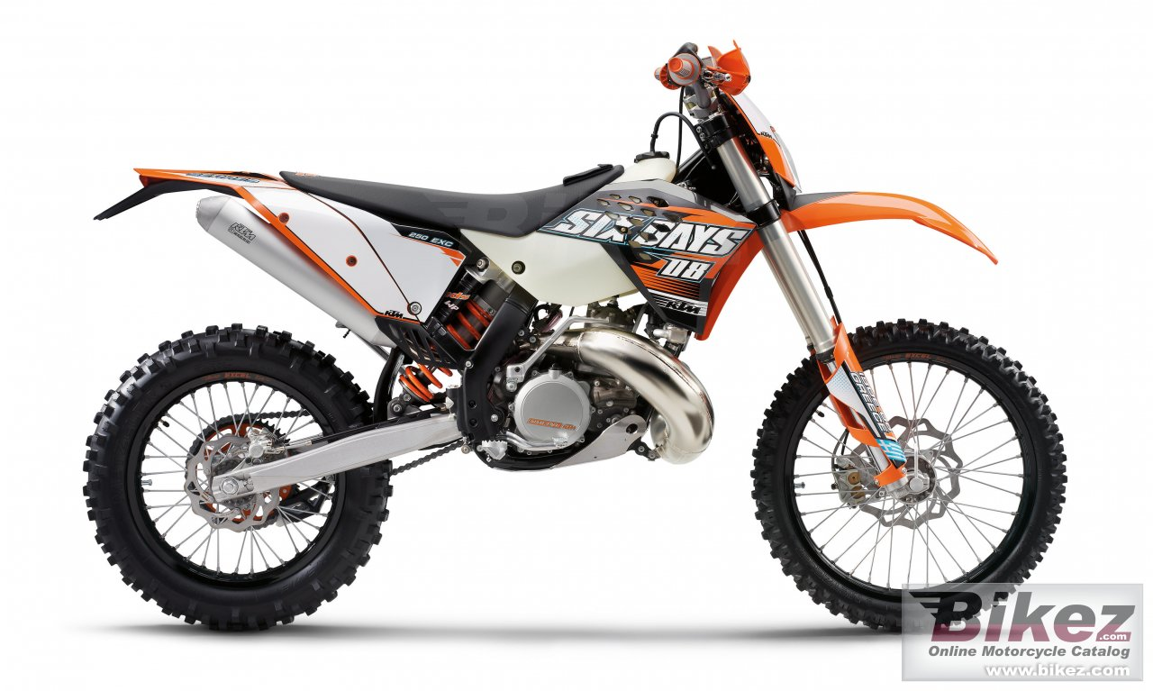 Big KTM 250 exc sixdays picture and wallpaper from Bikez.com