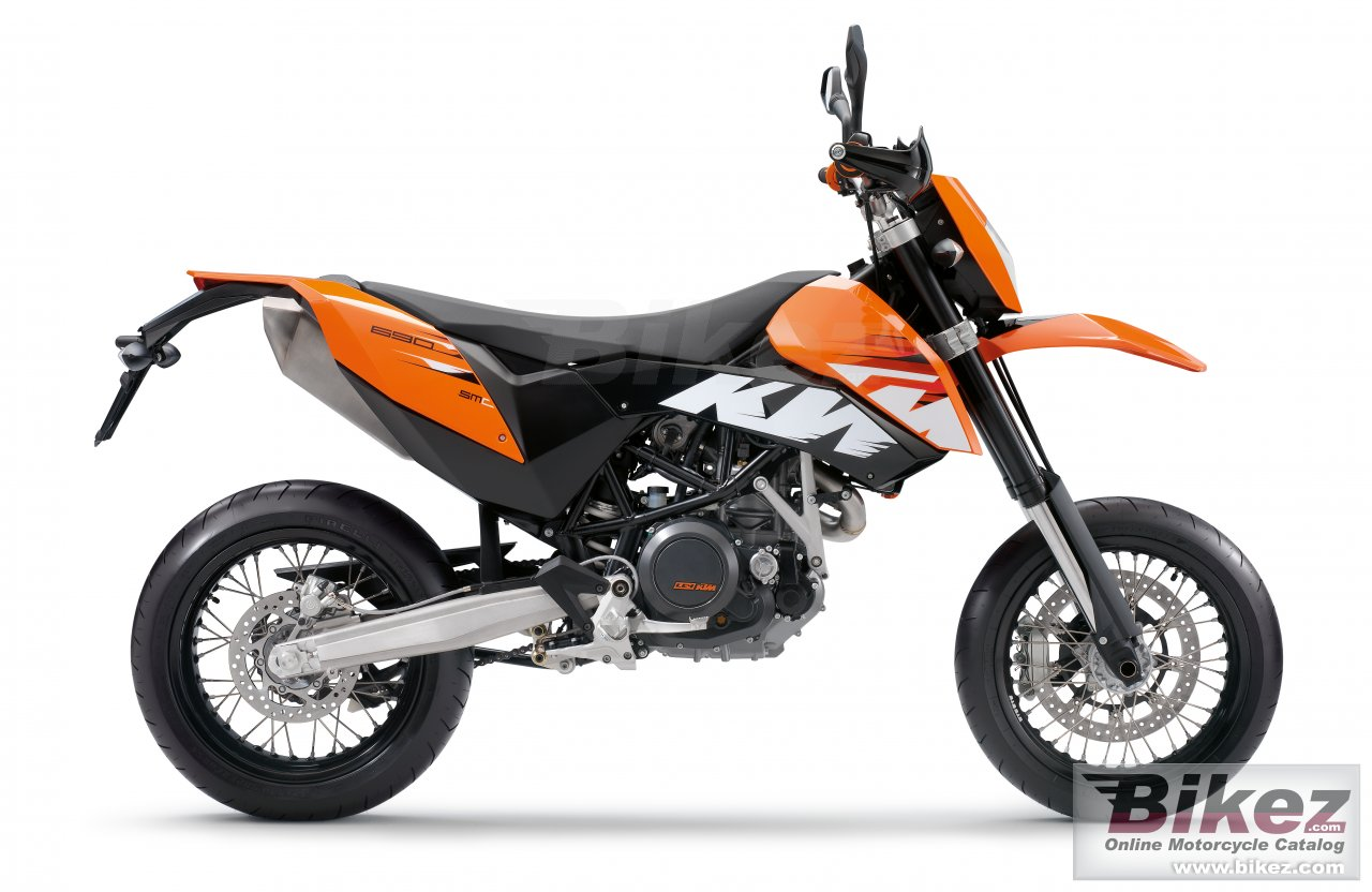 Big KTM 690 smc picture and wallpaper from Bikez.com