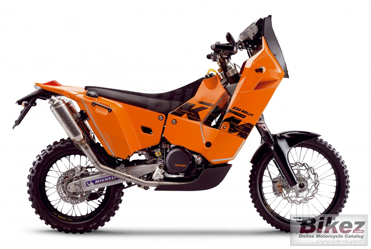 Big KTM 690 rally replica picture and wallpaper from Bikez.com
