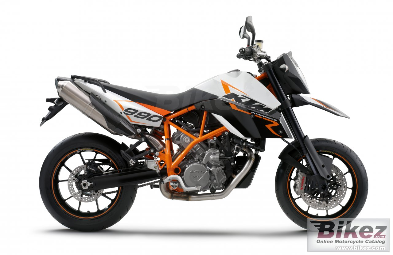 Big KTM 990 supermoto r picture and wallpaper from Bikez.com