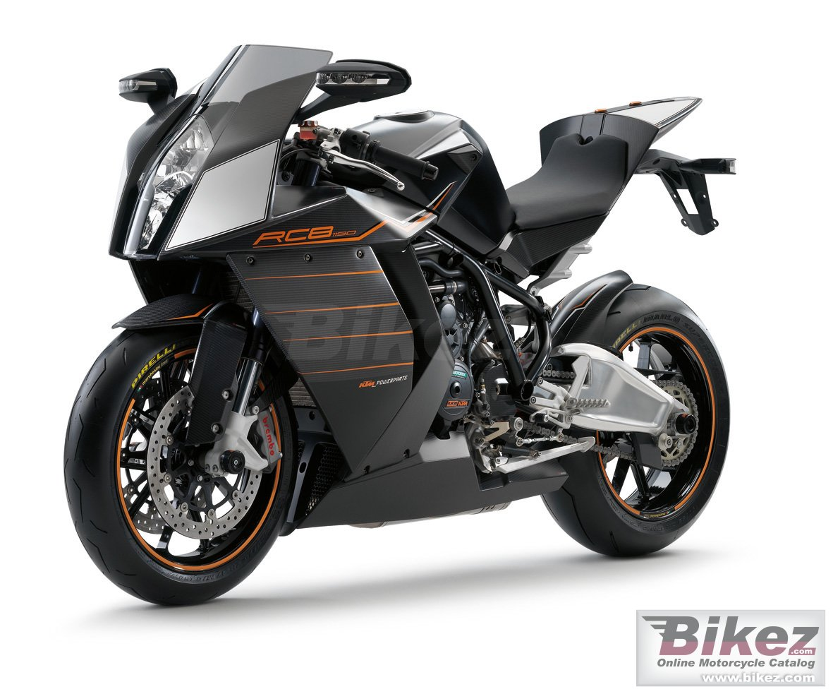 Big KTM 1190 rc8 picture and wallpaper from Bikez.com