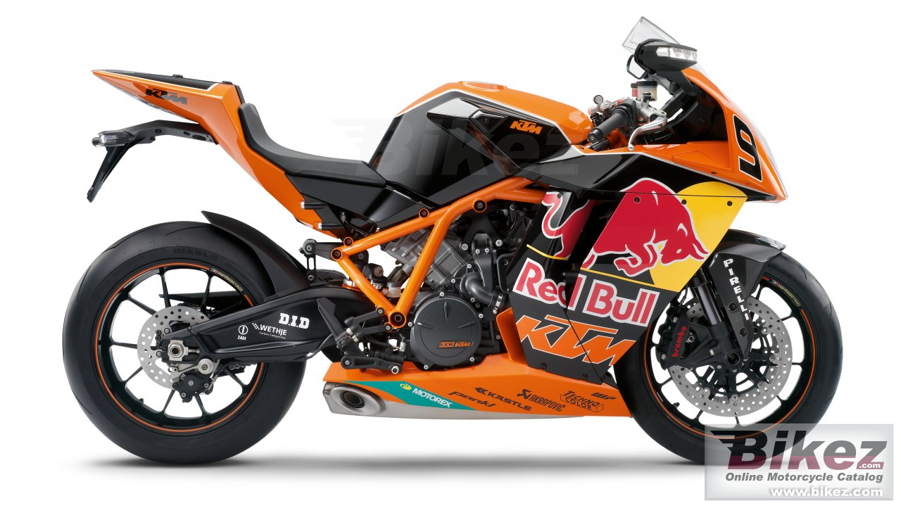 Big KTM 1190 rc8 r red bull limited edition picture and wallpaper from Bikez.com