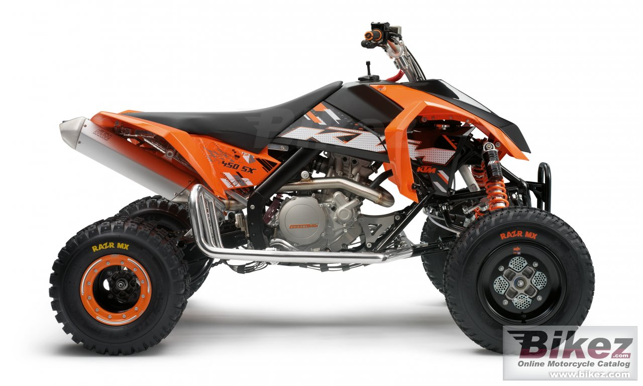 Big KTM 450 sx atv picture and wallpaper from Bikez.com