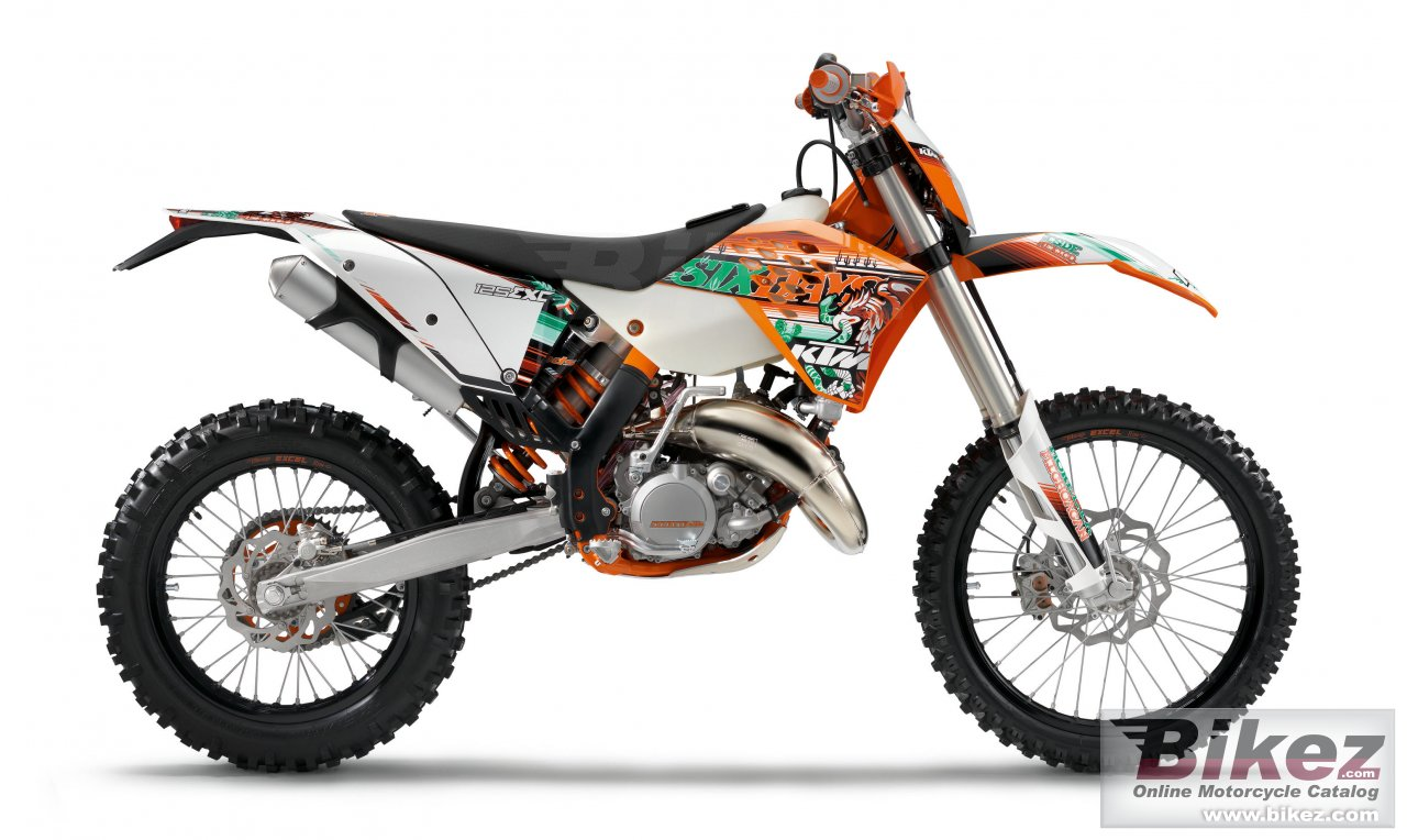 Big KTM 125 exc sixdays picture and wallpaper from Bikez.com