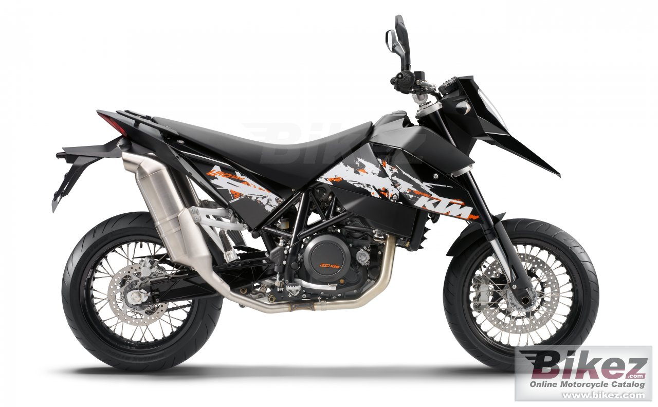 Big KTM 690 supermoto limited edition picture and wallpaper from Bikez.com