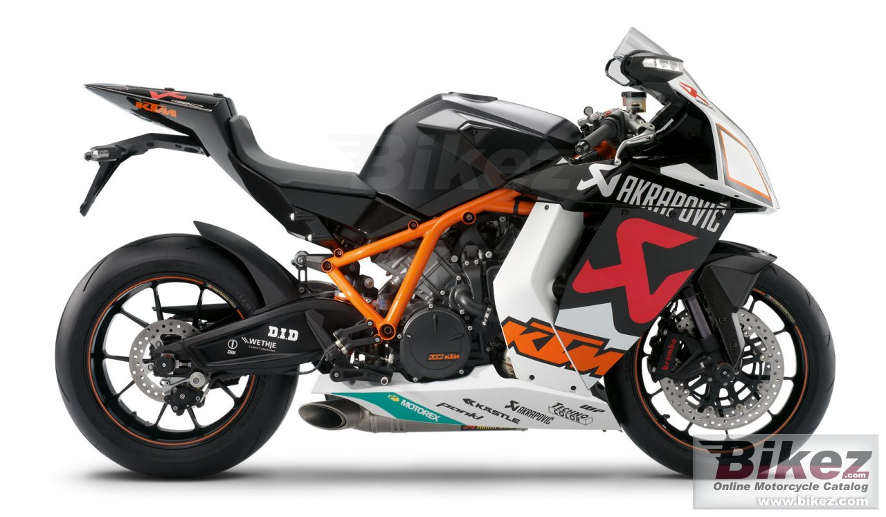 Big KTM 1190 rc8 r akrapovic picture and wallpaper from Bikez.com