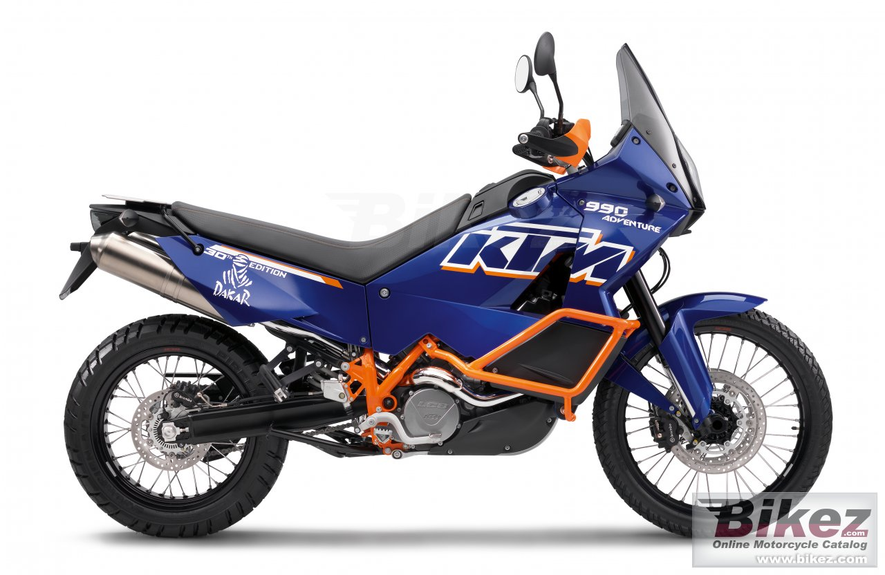 Big KTM 990 adventure dakar picture and wallpaper from Bikez.com