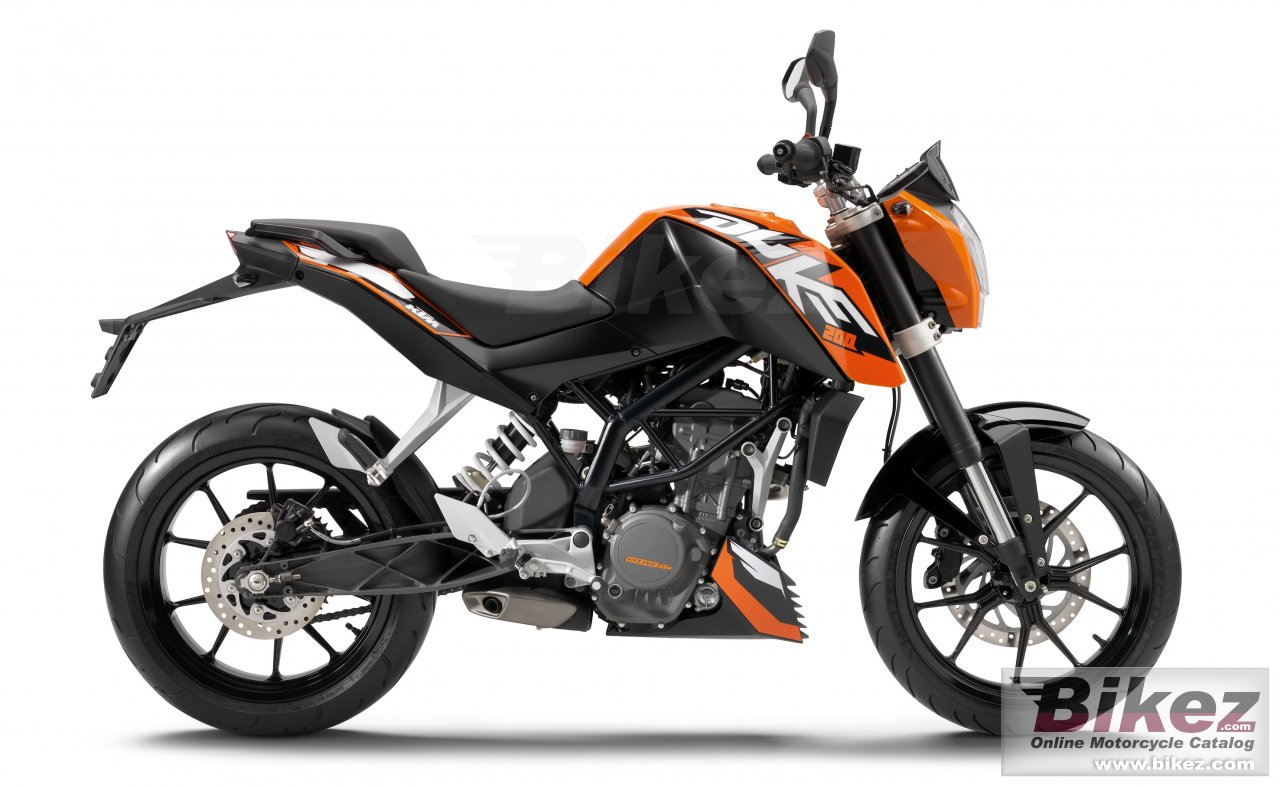 Big KTM 200 duke picture and wallpaper from Bikez.com