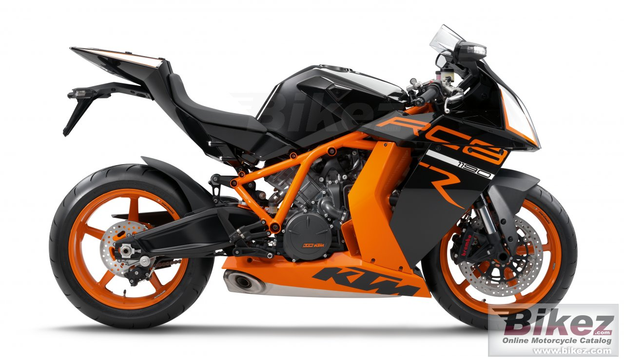 Big KTM 1190 rc8 r picture and wallpaper from Bikez.com
