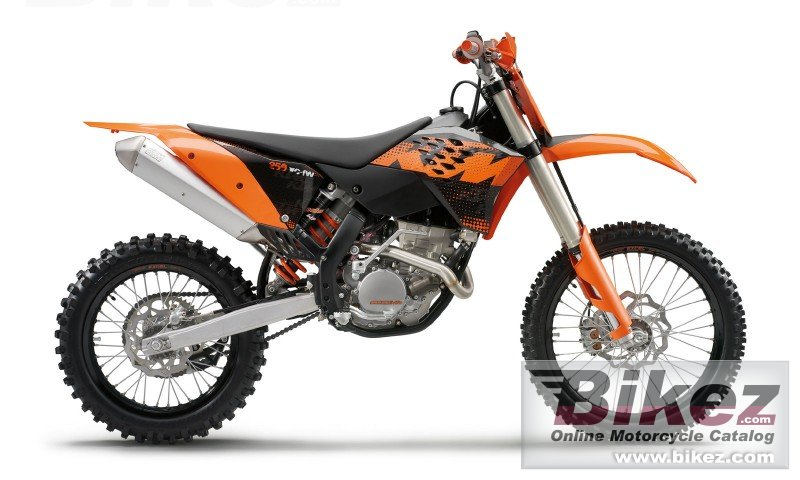 Big KTM 250 xcf-w six days picture and wallpaper from Bikez.com