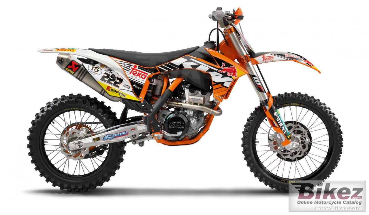 Big KTM 350 sx-f cairoli edition picture and wallpaper from Bikez.com