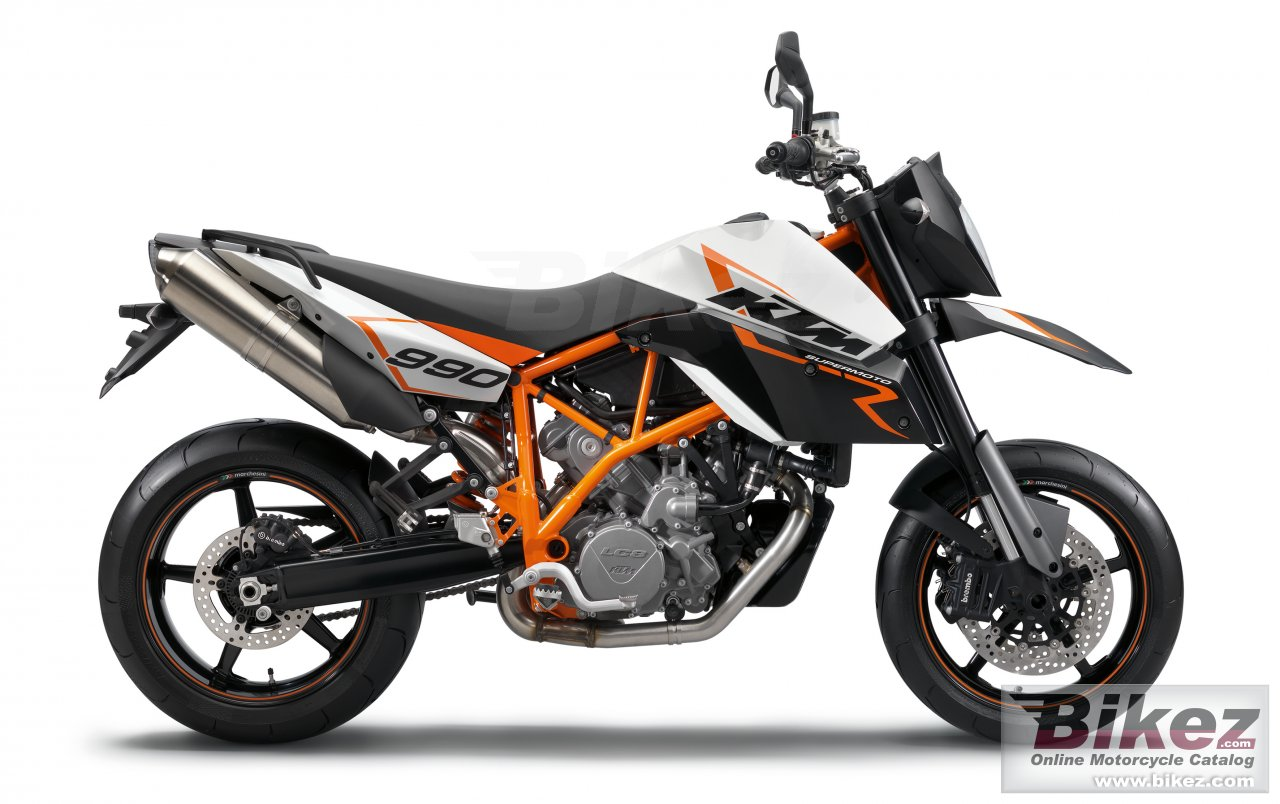 Big KTM 990 sm r picture and wallpaper from Bikez.com