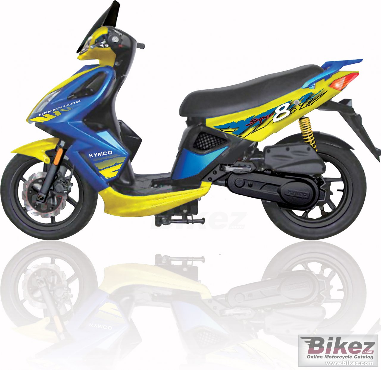 Big Kymco super 8 125 (e3) picture and wallpaper from Bikez.com
