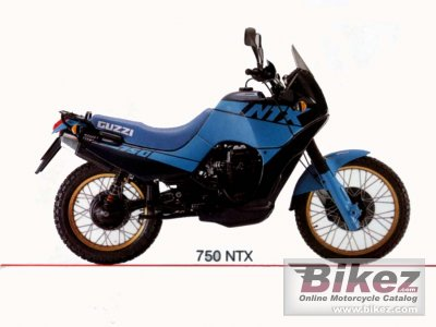 1989 moto guzzi ntx 750 c specifications and pictures