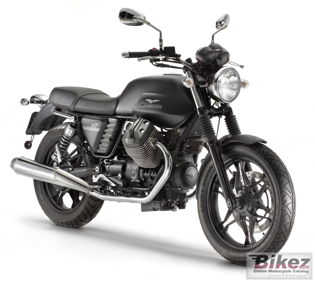 Big Moto Guzzi v7 stone picture and wallpaper from Bikez.com