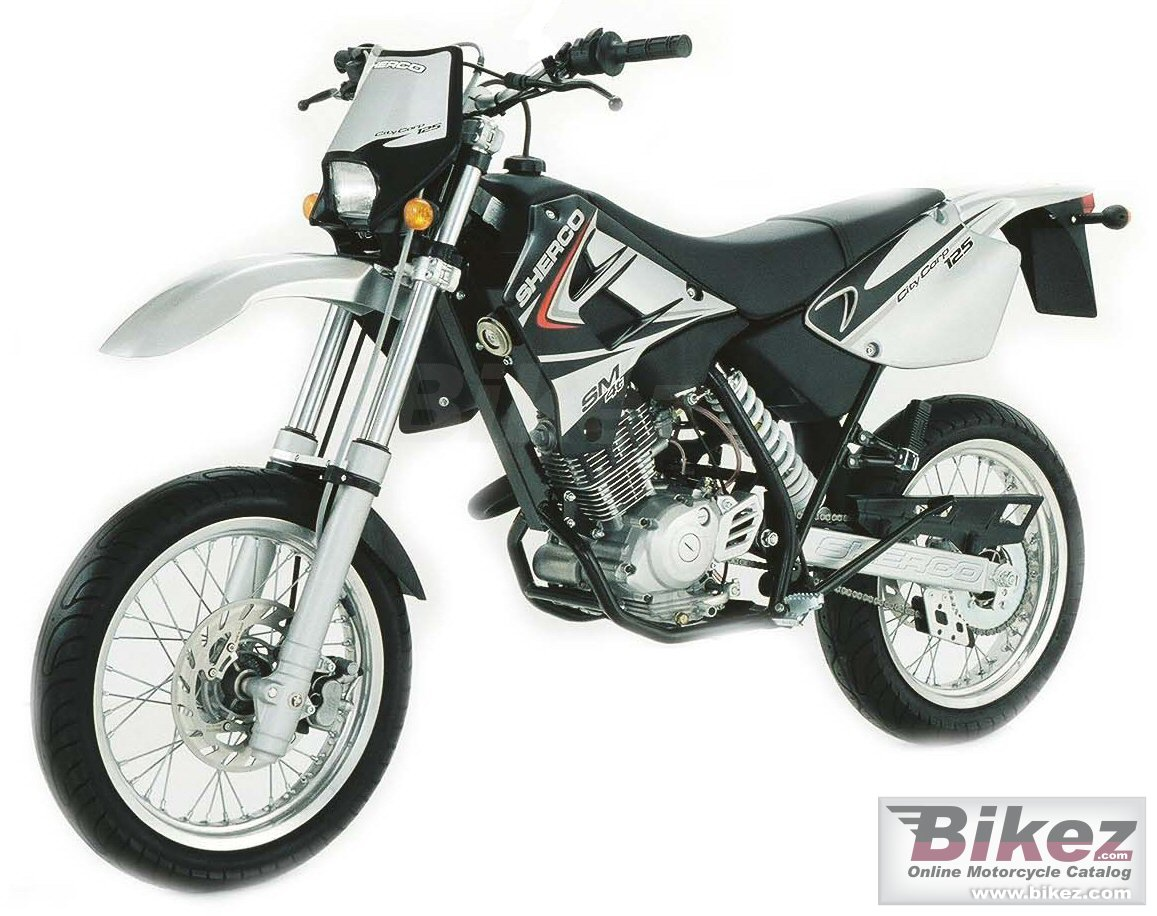 Big Sherco citycorp 125 supermotard picture and wallpaper from Bikez.com
