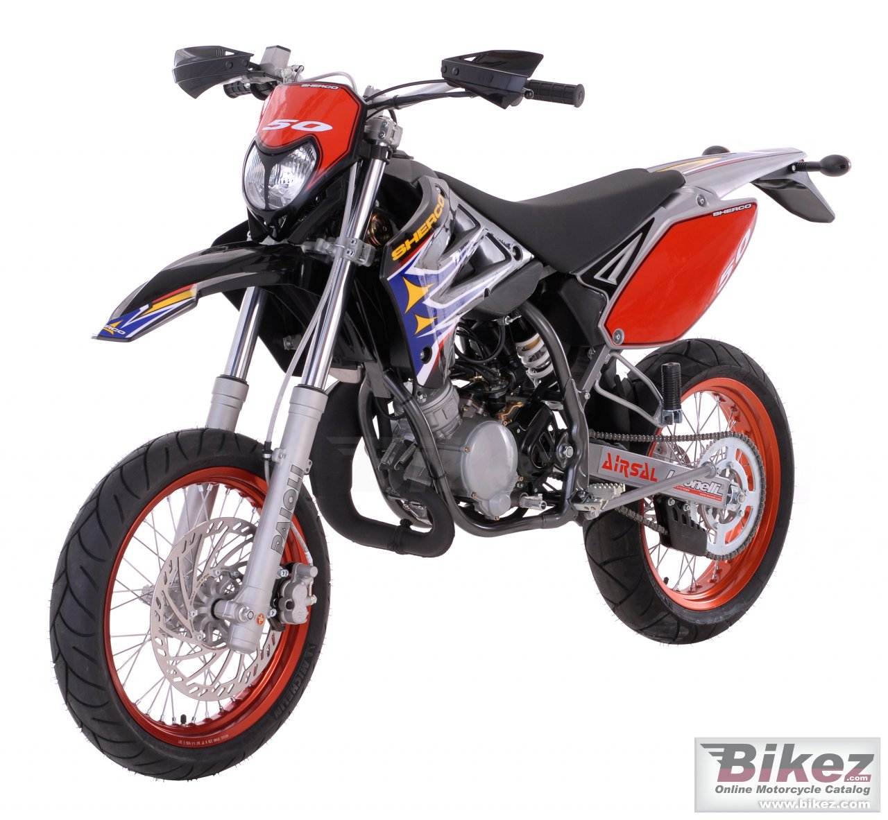 Big Sherco 50cc supermotard picture and wallpaper from Bikez.com