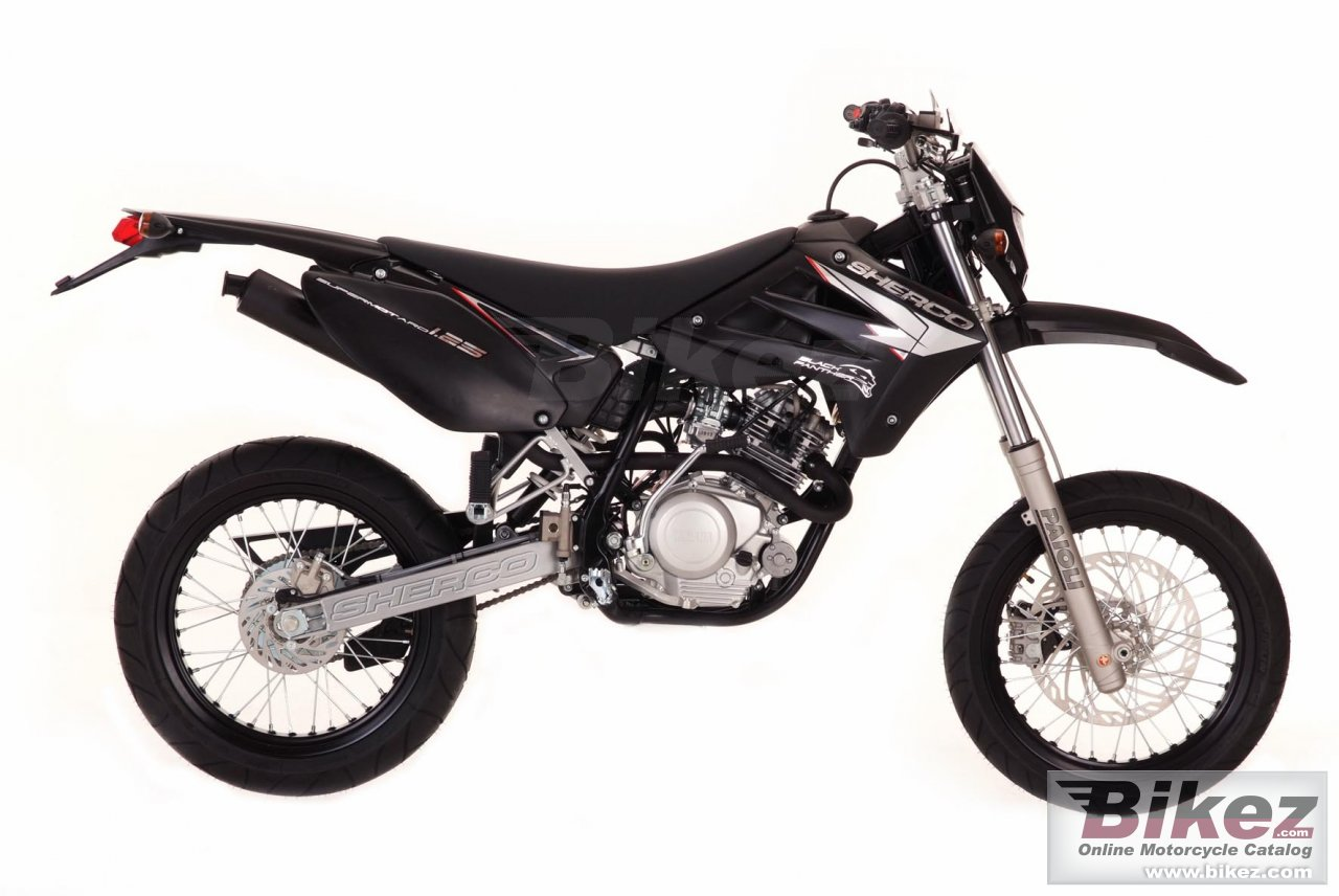 Big Sherco sm 125-f black panther picture and wallpaper from Bikez.com
