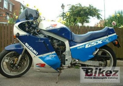 1988 Suzuki GSX-R 1100 specifications and pictures