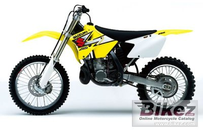 2003 suzuki rm 250 specifications and pictures