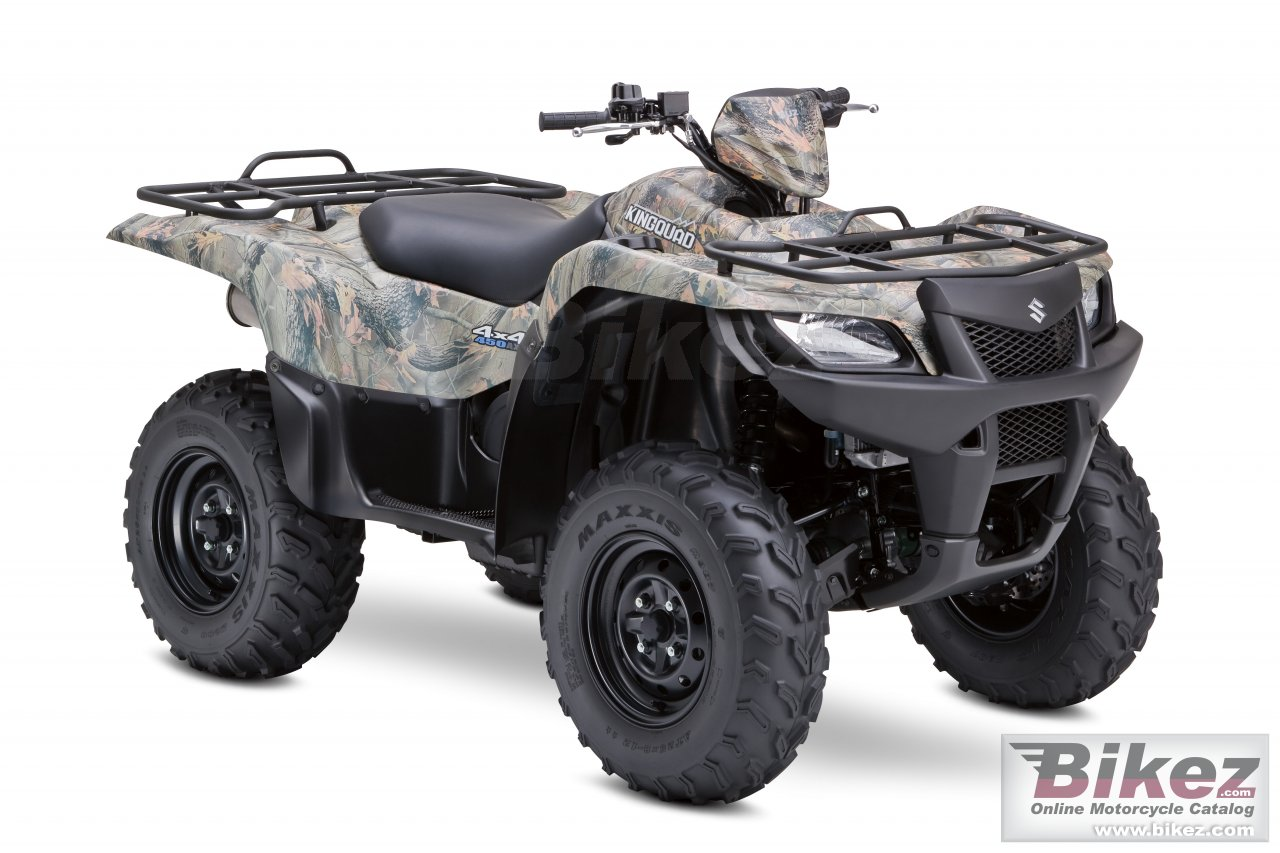 Big Suzuki kingquad 450axi 4x4 camo picture and wallpaper from Bikez.com