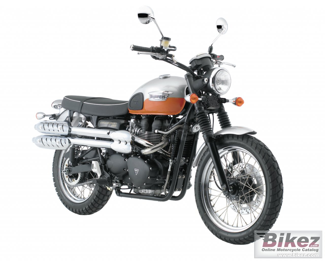Big Triumph scrambler picture and wallpaper from Bikez.com