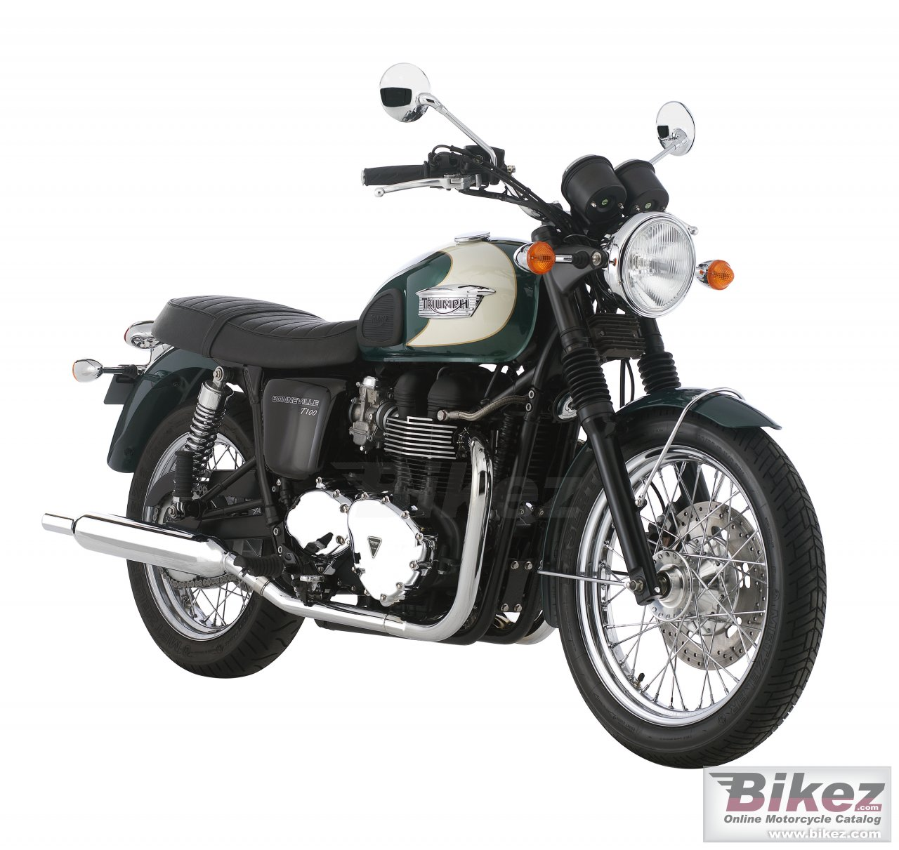 Big Triumph bonneville t100 picture and wallpaper from Bikez.com