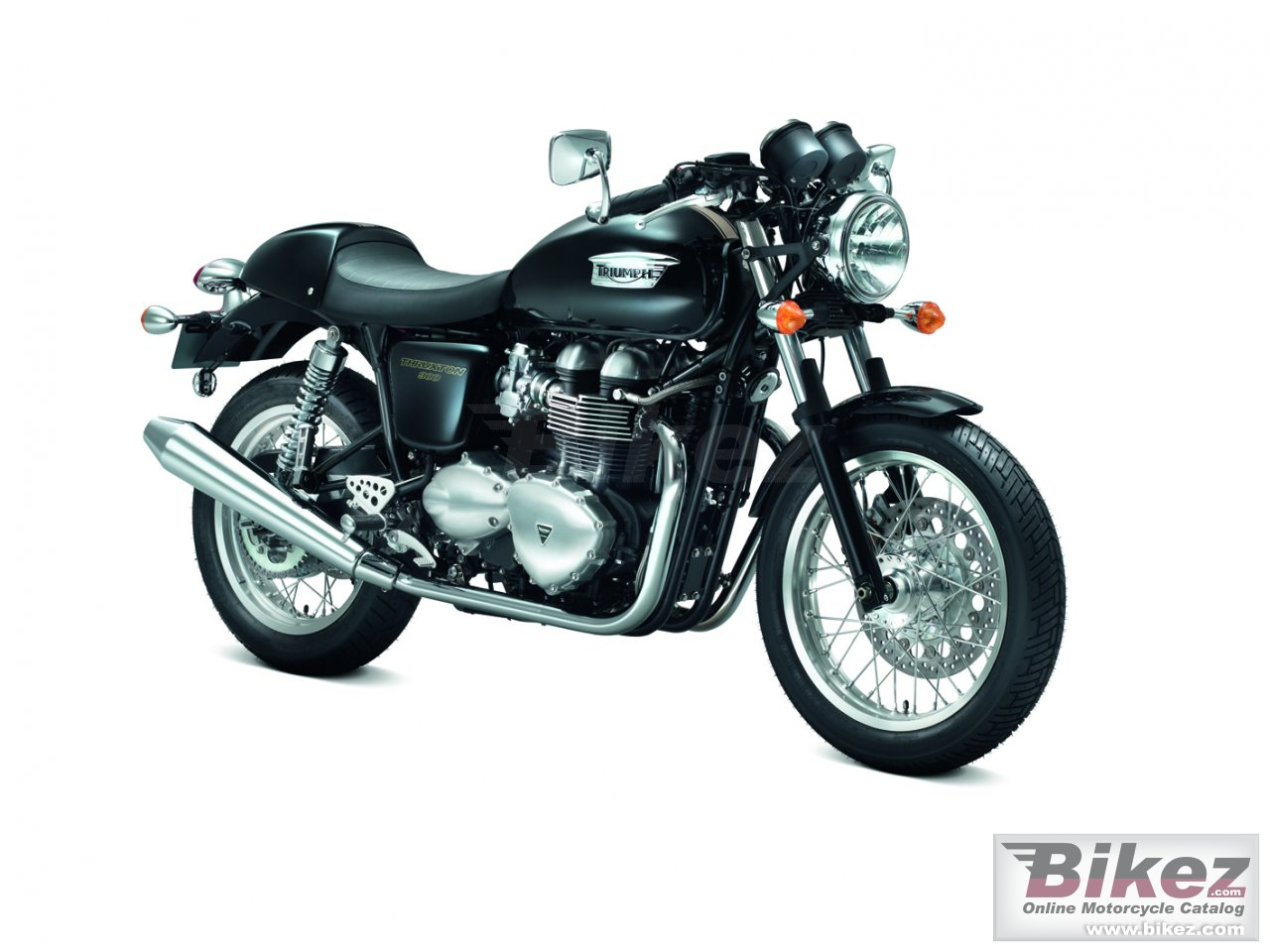 Big Triumph thruxton picture and wallpaper from Bikez.com