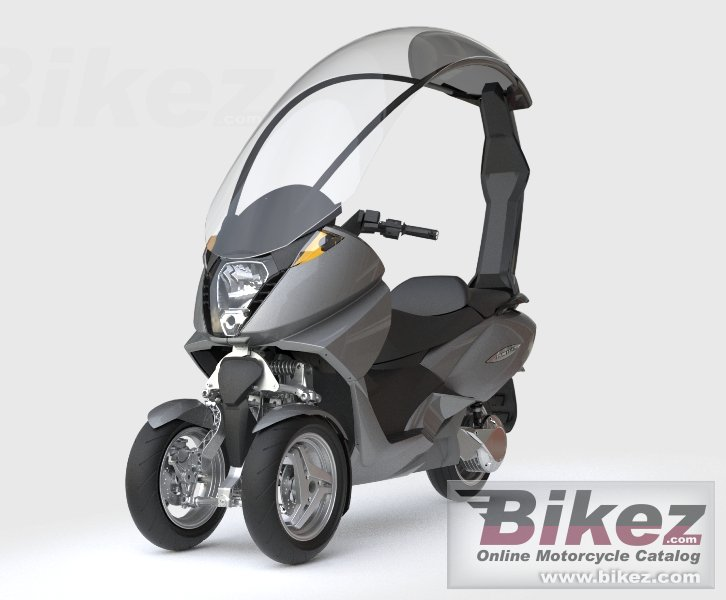 Big Vectrix electric 3-wheeler picture and wallpaper from Bikez.com