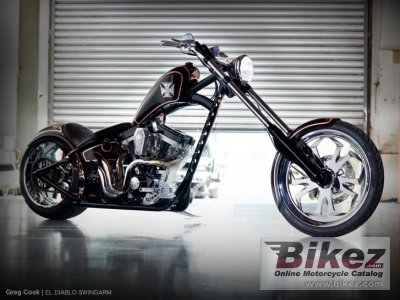 2010 West Coast Choppers El Diablo Swingarm photo