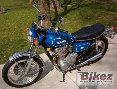 1976 yamaha xs 650 specifications and pictures