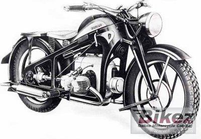 1940 Zündapp KS 750 Kardan Sport